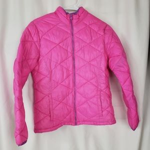 Justice Pink puffer jacket